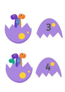 Математическая аппликация Динозавры