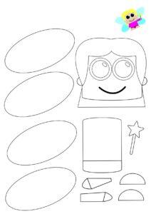 Черно-белые шаблоны аппликации для детей
