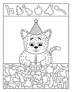 Распечатать развивающие игры и задания для детей 3 лет
