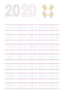 Распечатать прописи числа и цифры до 20