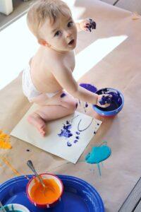 Рисование для малышей пальчиками красками