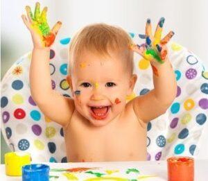 Рисование для малышей пальчиками