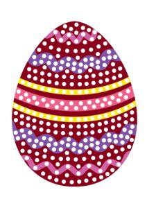 Рисование ватными палочками: пасхальное яйцо