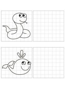 Распечатать задания для подготовки детей к школе - рисунки по клеточкам