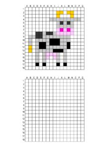 Распечатать задания - рисунки по клеточкам