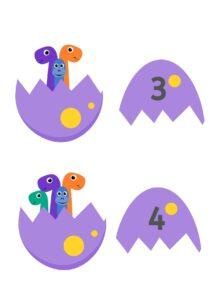 Состав числа 10: динозаврики в яйце