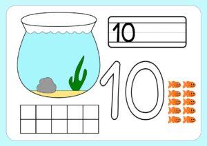 счет до 10 - рыбки в аквариуме