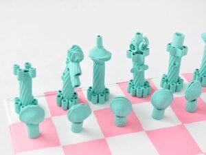 шахматы из макарон своими руками