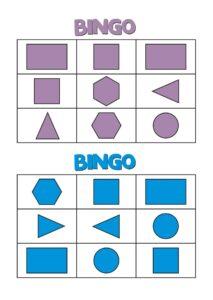 бинго с геометрическими фигурами для дошкольников