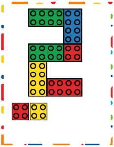 Схемы LEGO DUPLO с цифрами