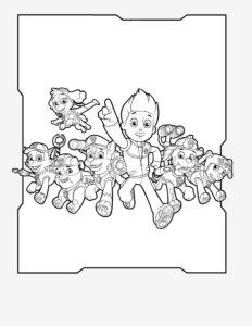 Бесплатные картинки-раскраски Щенячий Патруль