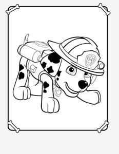 Распечатать раскраски с героями Щенячьего Патруля бесплатно