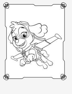 Бесплатные картинки-раскраски Щенячий Патруль в формате А4