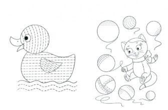 штриховка для детей дошкольников