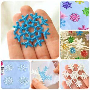 Как сделать снежинки из клея и соли своими руками