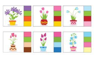 """Распечатать карточки """"Найди соответствие по цвету"""""""