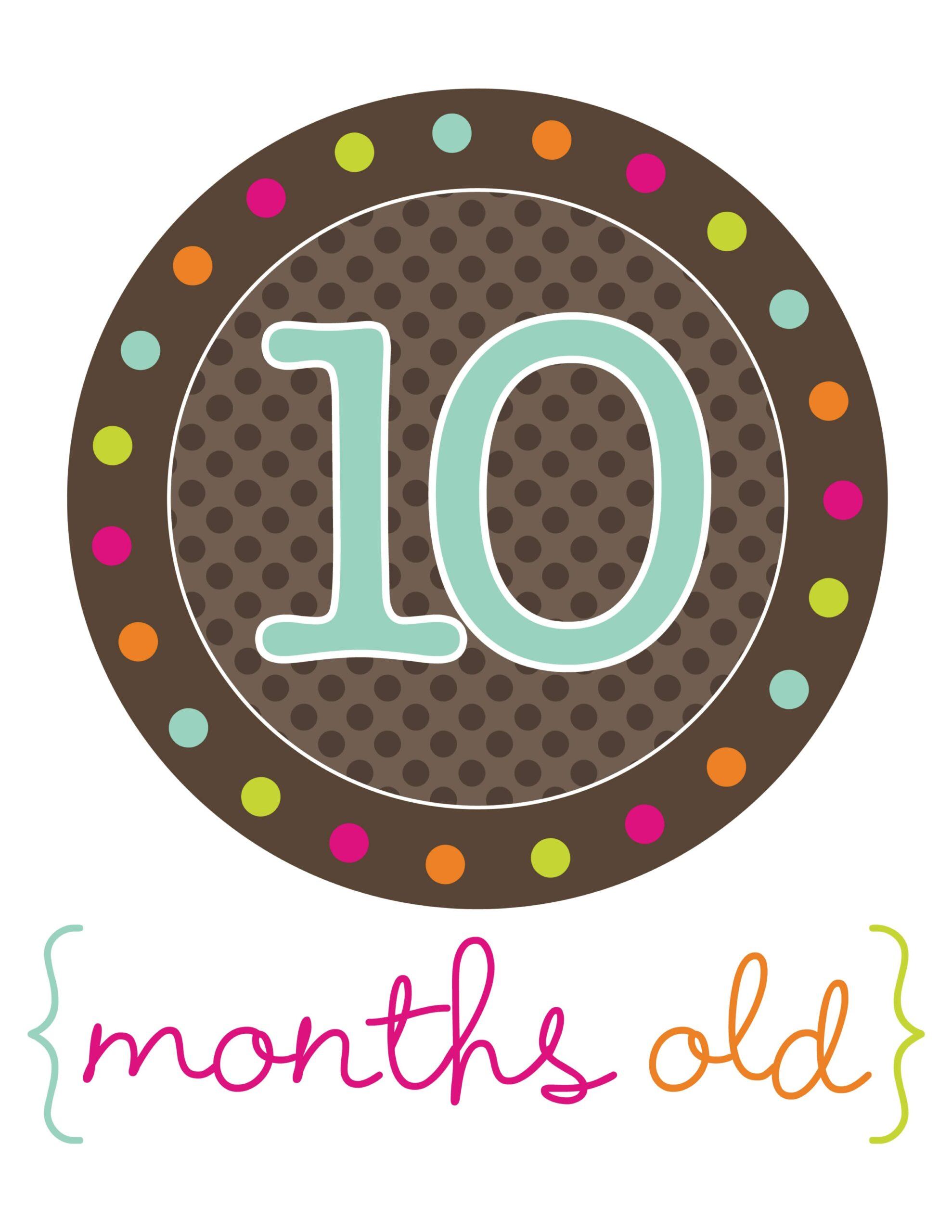 стикер для фотосессий 10 месяцев