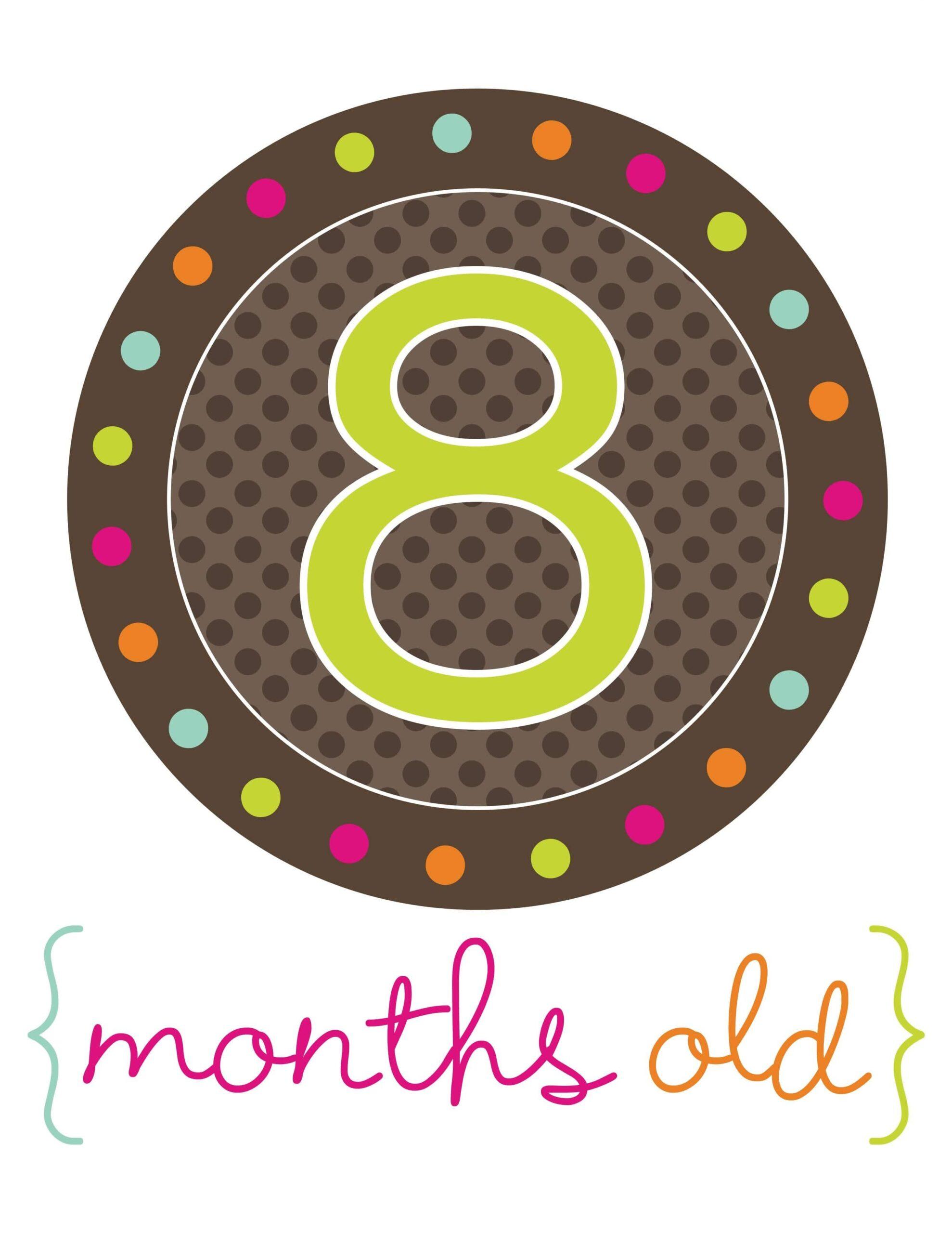 стикер для фотосессий 8 месяцев