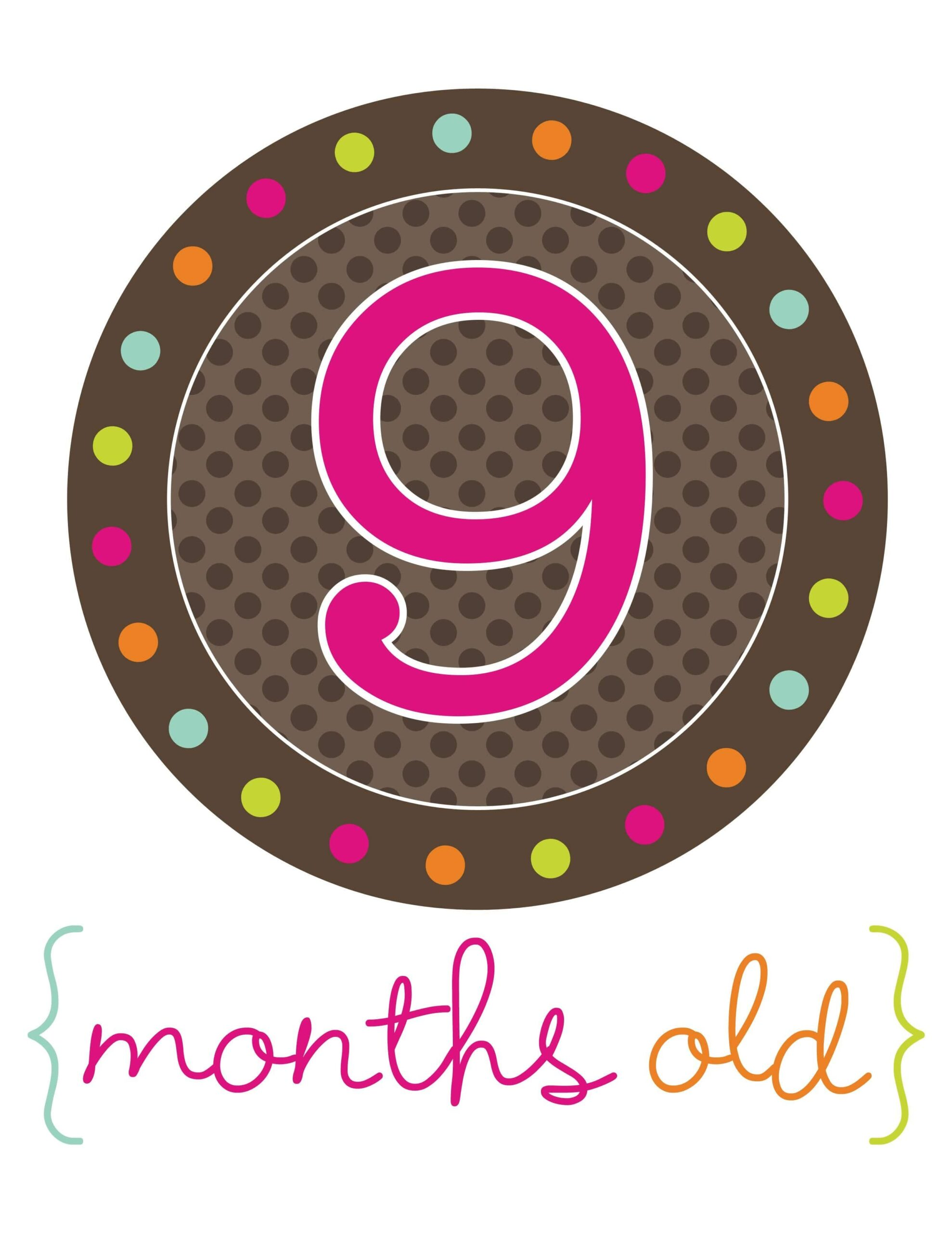 стикер для фотосессий 9 месяцев