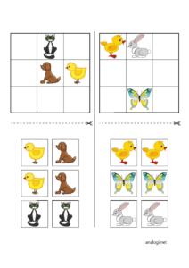 Судоку для детей 3-4 лет