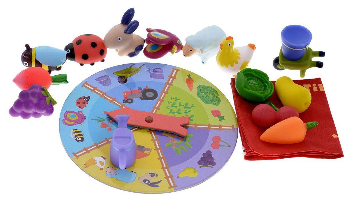 Развивающая настольная игра для детей Тактильное лото Ферма