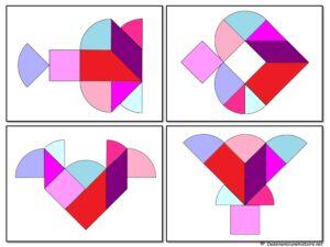 распечатать танграм Сердце
