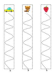 распечатать тренажеры-линии для вырезания ножницами для детей