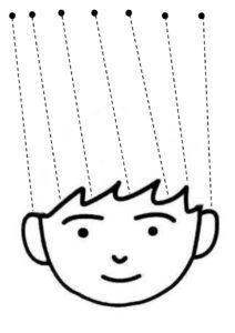 """Распечатать """"Прически"""" для вырезания ножницами для детей"""