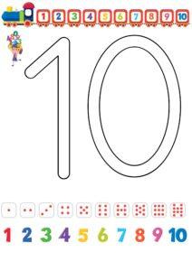 дошкольная математика: цифры 0-10