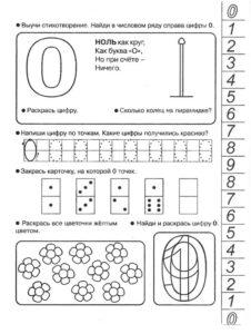 распечатать карточки Учим цифры до 10
