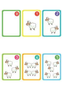 "Карточки с овечками ""Учим цифры"""