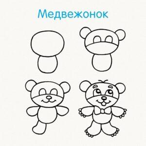 Учимся рисовать животных поэтапно карандашом