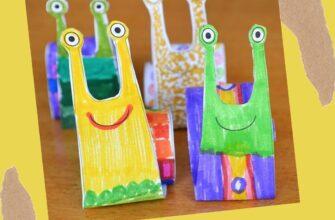поделка для детей из бумаги улитка