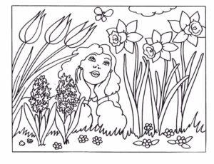 Весна раскраска распечатать