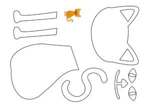 Аппликации из бумаги Домашние животные распечатать шаблон бесплатно