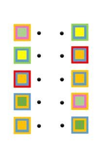 Распечатать цветовые задания на внимание для детей