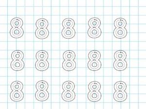 Распечатать задания для детей с цифрой 8