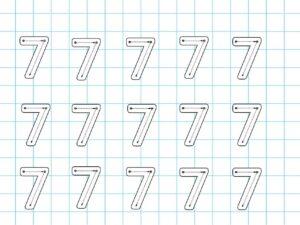 Распечатать задания для детей с цифрой 7