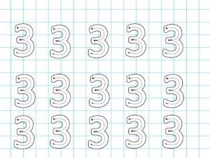 Распечатать задания для детей с цифрой 3