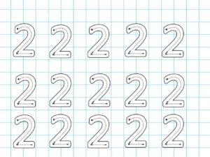 Распечатать задания для детей с цифрой 2