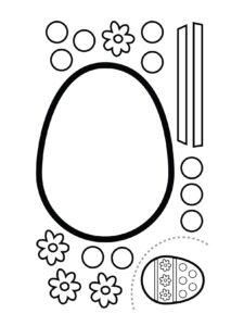 Черно-белые заготовки для аппликаций