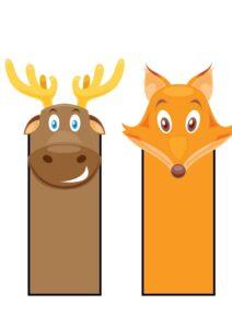 Закладки с животными для книг