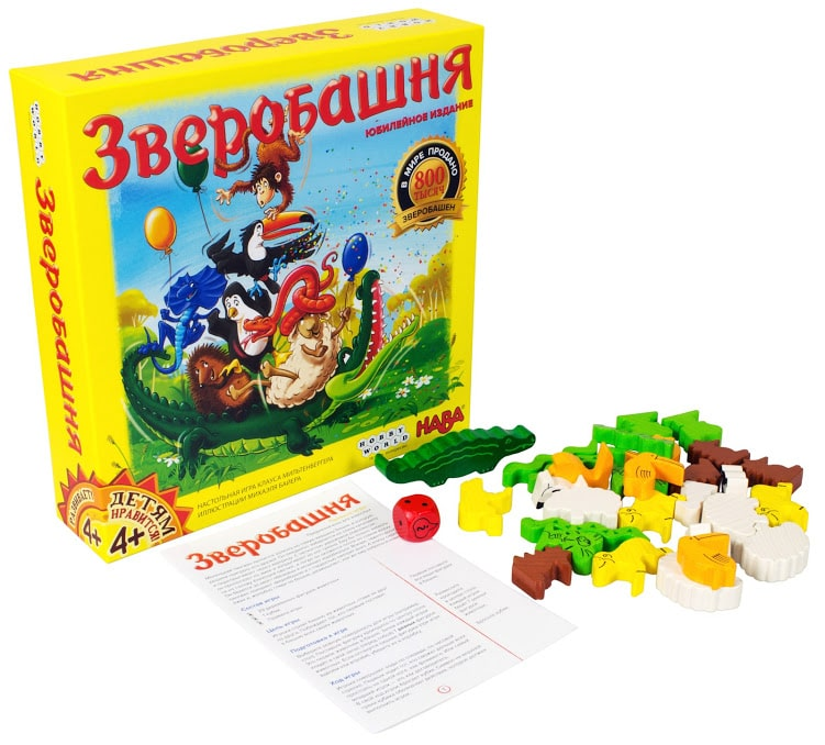 Настольная игра для всей семьи Зверобашня